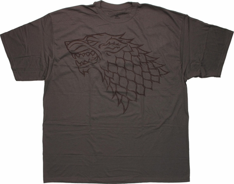 Game of Thrones Stark Sigil Vintage Charcoal T Shirt