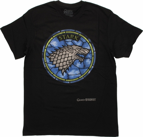 Game of Thrones Stark Stained Glass T Shirt Sheer