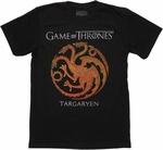 Game of Thrones Targaryen Faded T Shirt Sheer