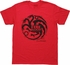 Game of Thrones Targaryen Red Heather T Shirt Sheer