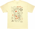 Game of Thrones Westeros Map T Shirt