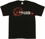 Gears of War 3 Skull T Shirt