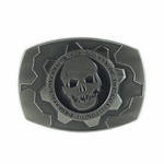 Gears of War Mounted Cog Tag Belt Buckle