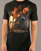 Ghost Rider Flaming Bike T-Shirt