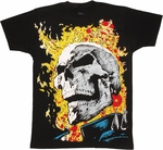 Ghost Rider Huge Head T Shirt Sheer