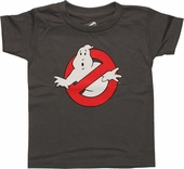 Ghostbusters Classic Logo Gray Toddler T Shirt
