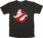 Ghostbusters Logo Heather Charcoal Youth T Shirt