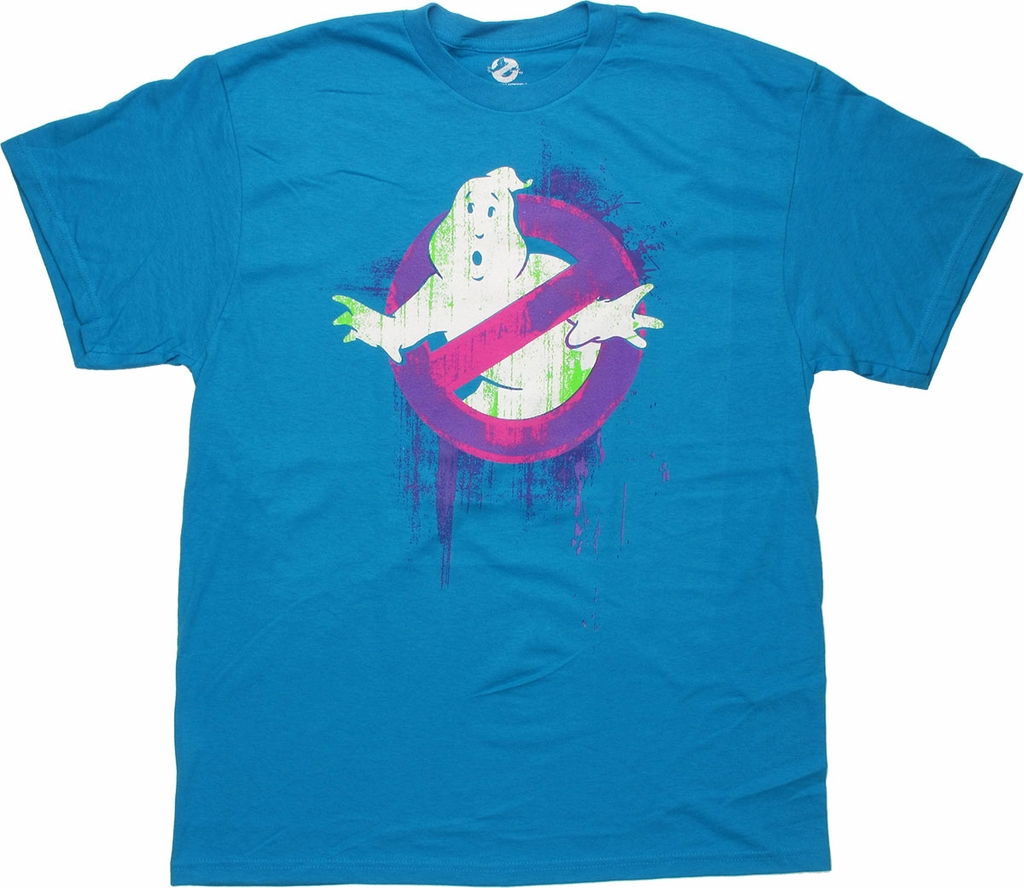 Ghostbusters Purple Splash Logo T Shirt