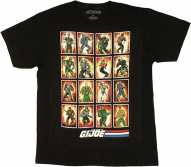 GI Joe Card Art T Shirt Sheer