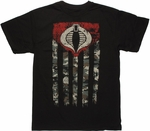 GI Joe Cobra Flag Camo Stripes T Shirt
