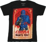 GI Joe Cobra Wants You T Shirt Sheer