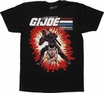 GI Joe Snake Eyes and Timber Card Back T-Shirt
