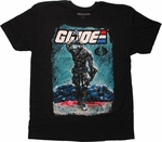 GI Joe Snake Eyes Comic Art T Shirt Sheer