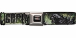 Godzilla 2014 Movie Green Seatbelt Mesh Belt