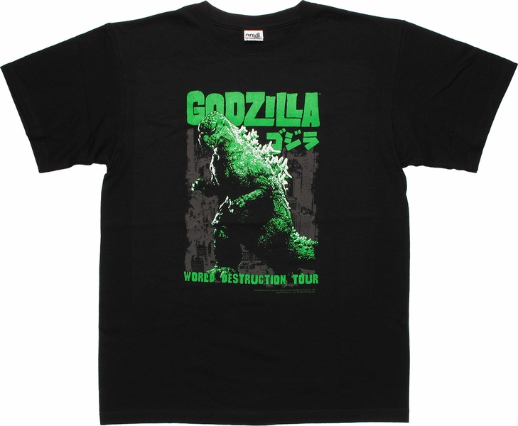 Godzilla Destruction Tour T-Shirt