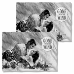 Gone with the Wind BW Poster FB Pillow Case