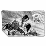 Gone with the Wind BW Poster Fleece Blanket