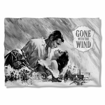 Gone with the Wind BW Poster Pillow Case