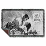 Gone with the Wind BW Poster Throw Blanket