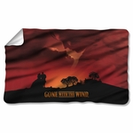 Gone with the Wind Sunset Fleece Blanket