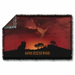 Gone with the Wind Sunset Throw Blanket