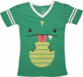 Goodie Two Sleeves Cute Reptile Jersey V Neck Baby Tee