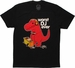 Goodie Two Sleeves T-Rex Worst DJ Ever T Shirt Sheer