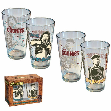 Goonies Sloth Chunk Pint Glass Set