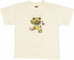 Grateful Dead Bear White Youth T Shirt