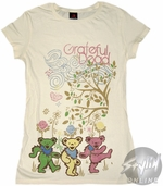 Grateful Dead Flowers Music Baby Tee