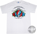 Grateful Dead Red Blue Roses T-Shirt