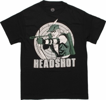 Green Arrow Headshot T Shirt