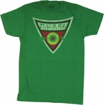 Green Arrow Triangle T Shirt Sheer