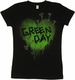 Green Day Heart Baby Tee