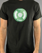 Green Lantern Chrome Logo T Shirt