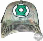Green Lantern Collage Hat