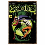 Green Lantern Comic Tin Sign