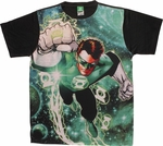 Green Lantern Galactic Hal Sublimated T Shirt Sheer