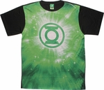 Green Lantern Green Energy Logo Sublimated T Shirt Sheer