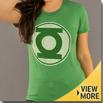 Green Lantern Junk Food Girls Shirt
