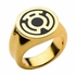 Green Lantern Sinestro Gold Tone Ring