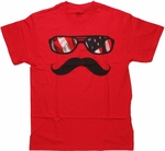 Groucho Glasses Red T Shirt