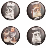 Grumpy Cat Button Set