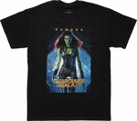 Guardians of the Galaxy Gamora Poster T Shirt