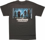 Guardians of the Galaxy Movie Line Up T Shirt