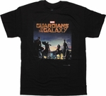 Guardians of the Galaxy Movie Poster T Shirt