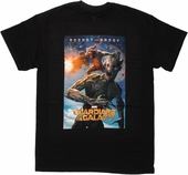 Guardians of the Galaxy Rocket and Groot Poster T Shirt