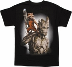 Guardians of the Galaxy Rocket Groot T Shirt