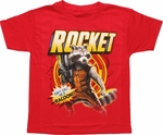 Guardians of the Galaxy Rocket Juvenile T Shirt