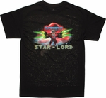 Guardians of the Galaxy Star Lord Firing T Shirt